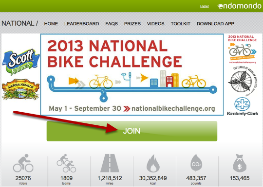 "4: Go to National Bike Challenge dot org and click ""Join"""