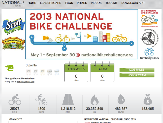 6: You are registered for the National Bike Challenge. Two thirds there!