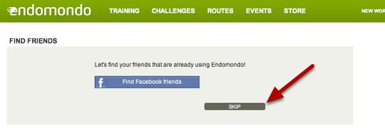 "2: Skip the ""find more friends"" step"